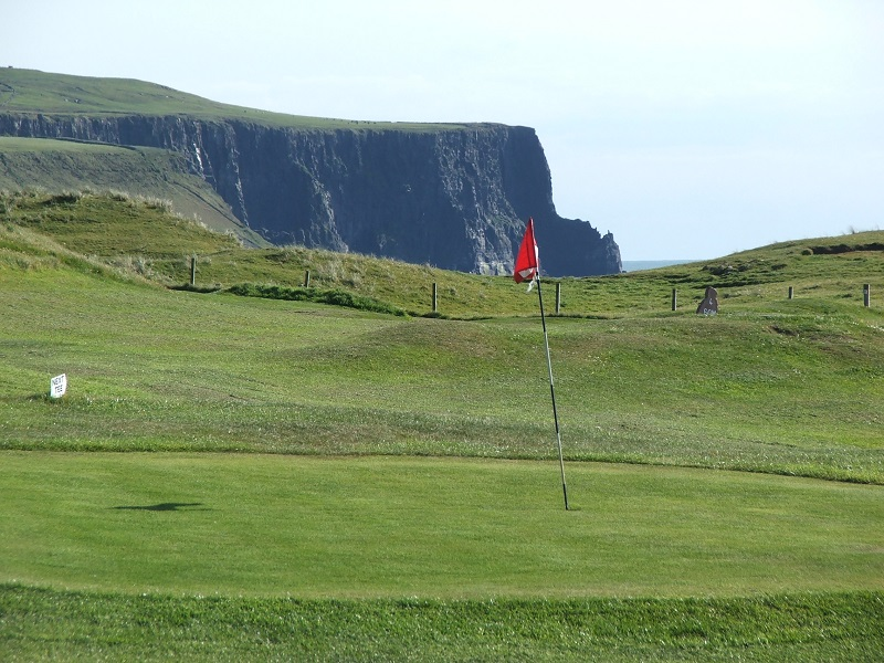 Cliffs of Moher from Doolin Pitch and Putt
